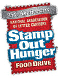 25th Annual Letter Carriers Food Drive – Saturday May 13, 2017