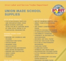 Back Family Supporting American jobs, purchase union made school supplies