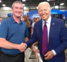WWAFLCIO President Meets President Biden in Wisconsin